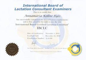 Ilyés Annamária - IBCLC diploma